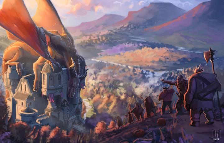 De draak in het trollenfort (c) HANS KRILL