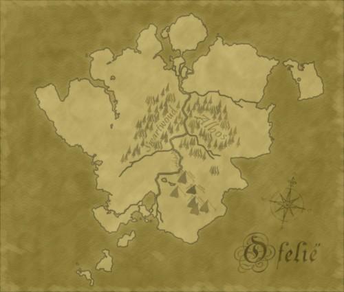 De kaart van Ofelië